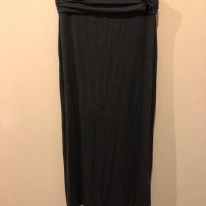 JCrew Grey Maxi Skirt